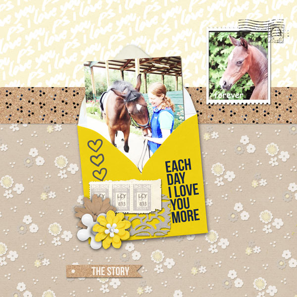 digital scrapbooking layout created by barbaraj featuring PS I Love You by Sahlin Studio