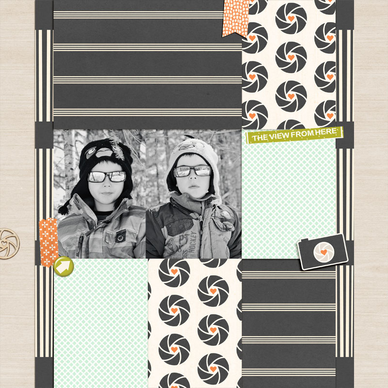 digital scrapbooking layout created by loridigi featuring February FREE Template by Sahlin Studio