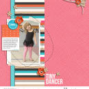 Tiny Dancer digital scrapbooking inspiration using Love Your Body by Sahlin Studio
