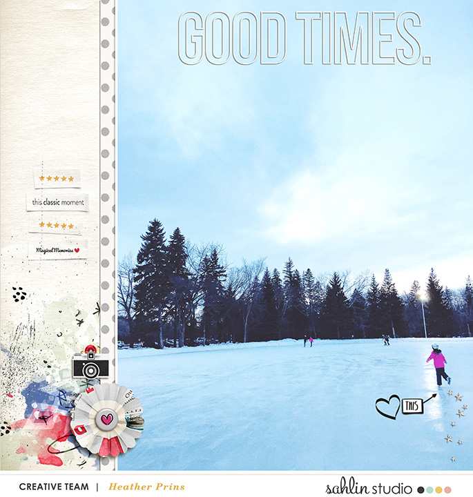 Good Times digital scrapbooking page  using  Project Mouse: Classic by Britt-ish Designs and Sahlin Studio