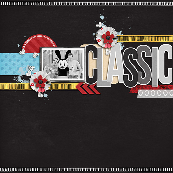 Disney Classic digital scrapbooking page using  Project Mouse: Classic by Britt-ish Designs and Sahlin Studio