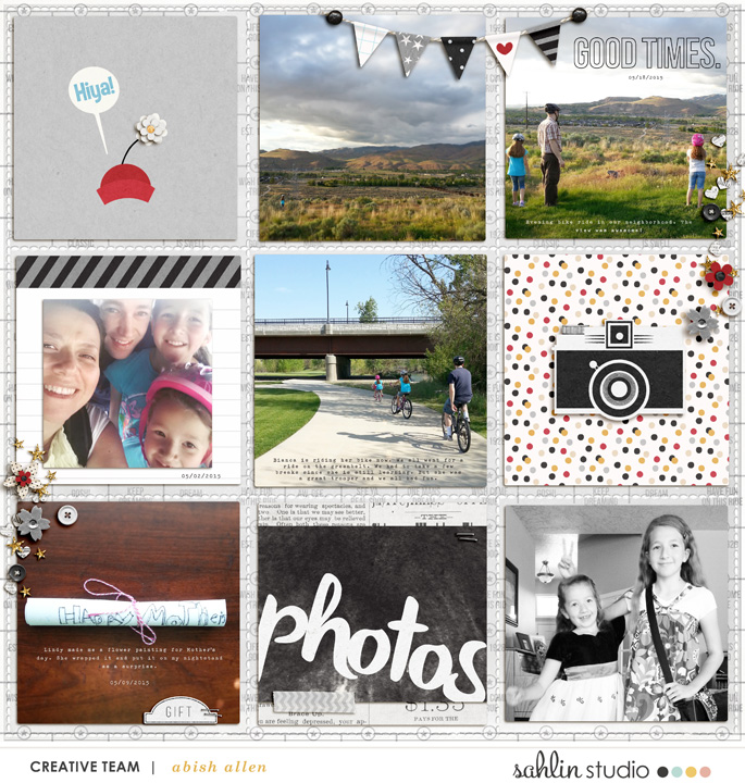 Digital project life page using  Project Mouse: Classic by Britt-ish Designs and Sahlin Studio