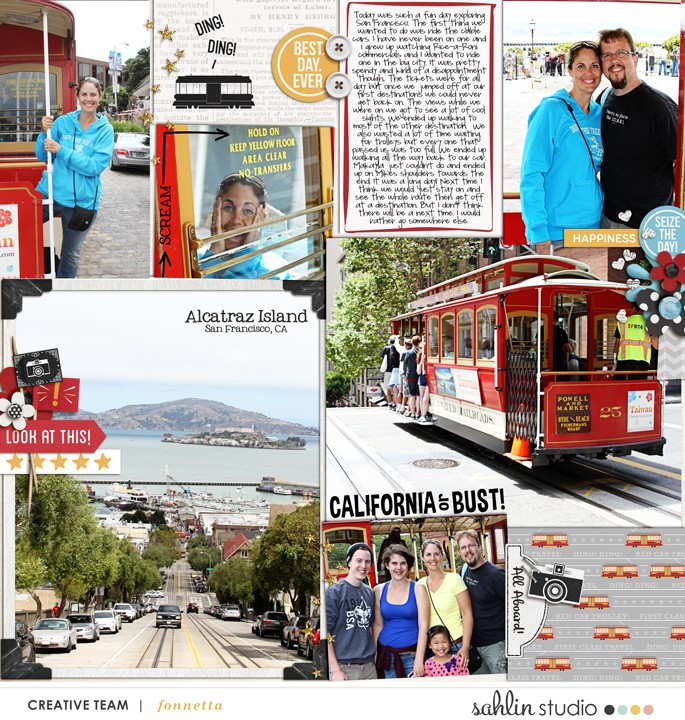 California or Bust digital Project Life page using  Project Mouse: Classic by Britt-ish Designs and Sahlin Studio