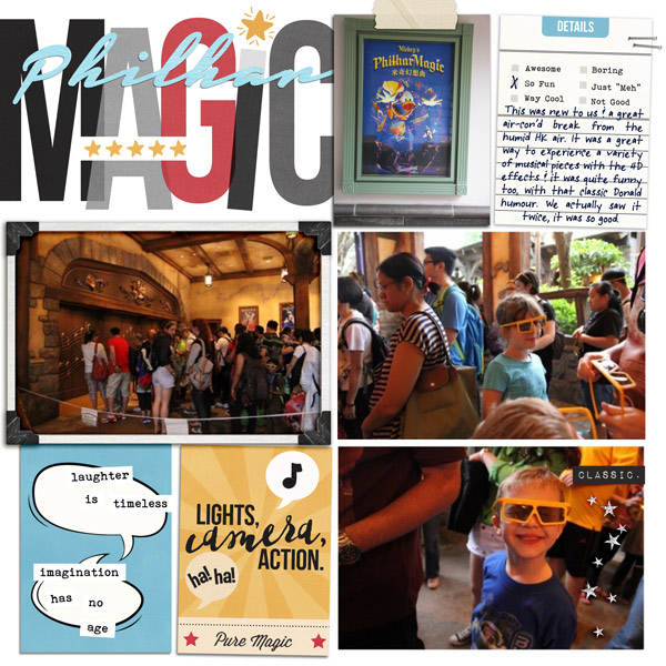 Disney PhilharMagic digital Project Life page using  Project Mouse: Classic by Britt-ish Designs and Sahlin Studio