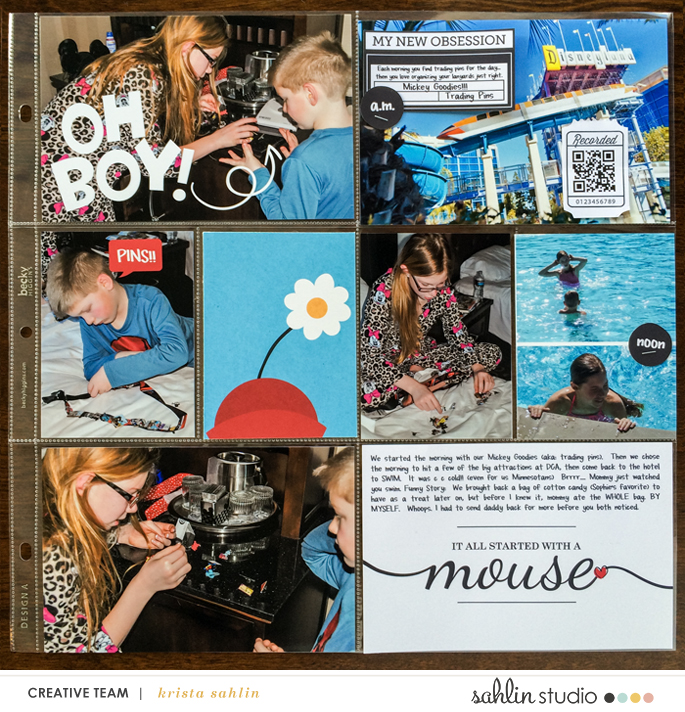 Disney Oh Boy!  Disneyland Project Life page using Project Mouse: Classic by Britt-ish Designs and Sahlin Studio