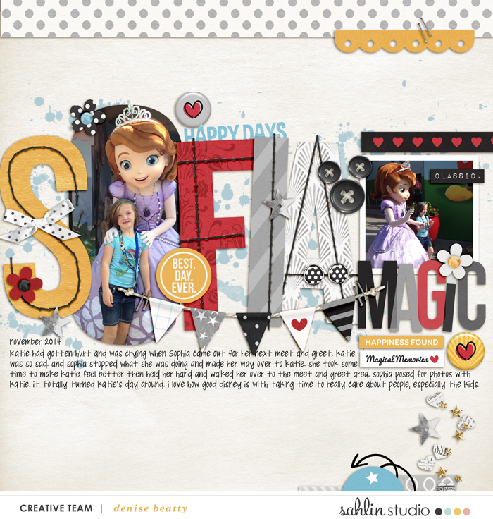 Disney Sofia digital scrapbooking page using  Project Mouse: Classic by Britt-ish Designs and Sahlin Studio
