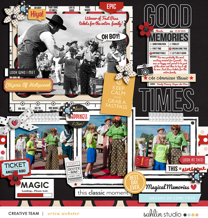 Disney Magical Memories digital scrapbooking page using  Project Mouse: Classic by Britt-ish Designs and Sahlin Studio
