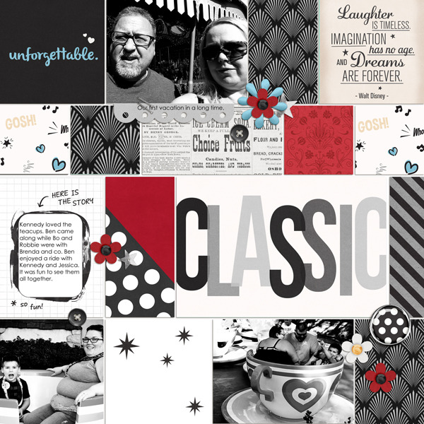 Disney classic project life page using  Project Mouse: Classic by Britt-ish Designs and Sahlin Studio