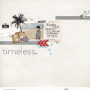 Timeless digital scrapbooking page using Project Mouse: Classic by Britt-ish Designs and Sahlin Studio