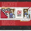 Disney's Mickey Mouse digital scrapbooking page using Project Mouse: Classic by Britt-ish Designs and Sahlin Studio