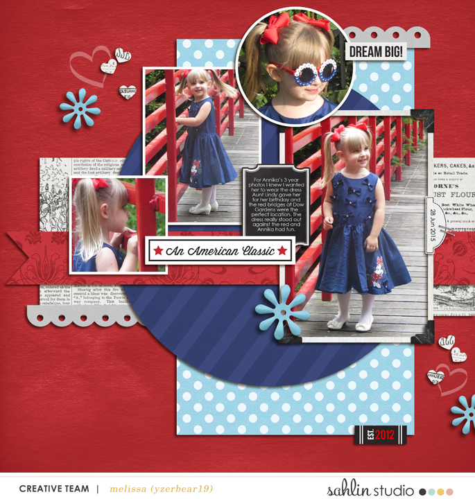 Dream Big digital scrapbooking page using  Project Mouse: Classic by Britt-ish Designs and Sahlin Studio