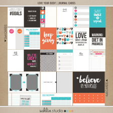 Love Your Body | Journal Cards by Sahlin Studio - Perfect for planners, project life albums for any of your exercise or fitness documenting!!