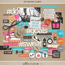 Love Your Body | Elements by Sahlin Studio - Perfect for planners, scrapbooking, project life albums for any of your exercise or fitness documenting!!