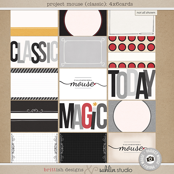Project Mouse: Journal Cards by Britt-ish Designs and Sahlin Studio - Perfect for Disney Hollywood Studio, Mickey Project Mouse or Project Life Albums!!