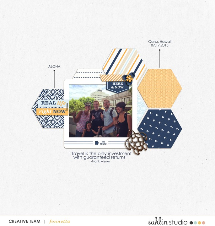 digital scrapbooking layout created by fonnetta featuring March 2016 FREE Template by Sahlin Studio