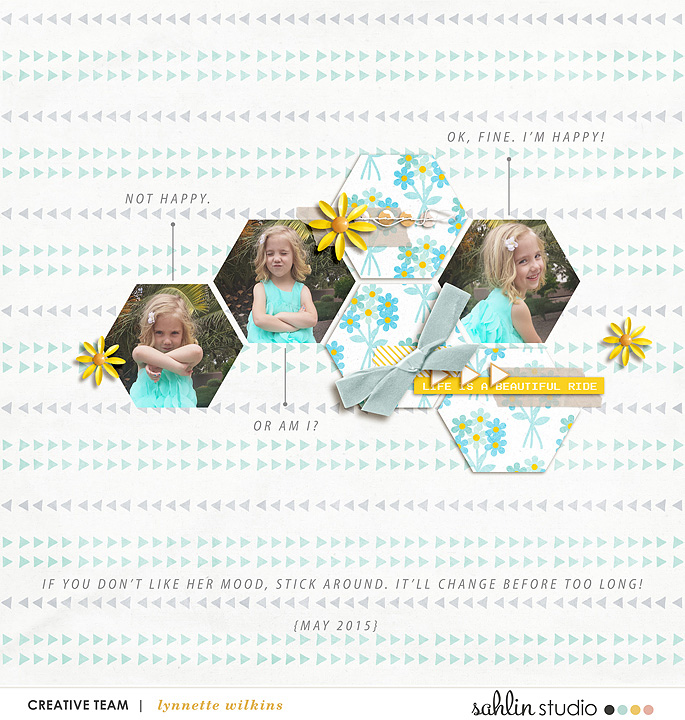 digital scrapbooking layout created by lynnette featuring March 2016 FREE Template by Sahlin Studio