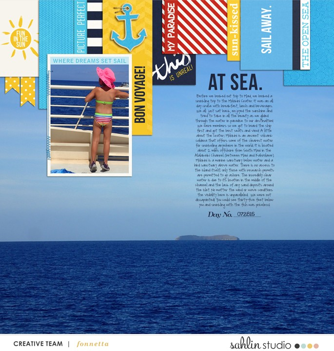 digital scrapbooking layout created by fonnetta featuring Project Mouse (At Sea) by Britt-ish Designs and Sahlin Studio
