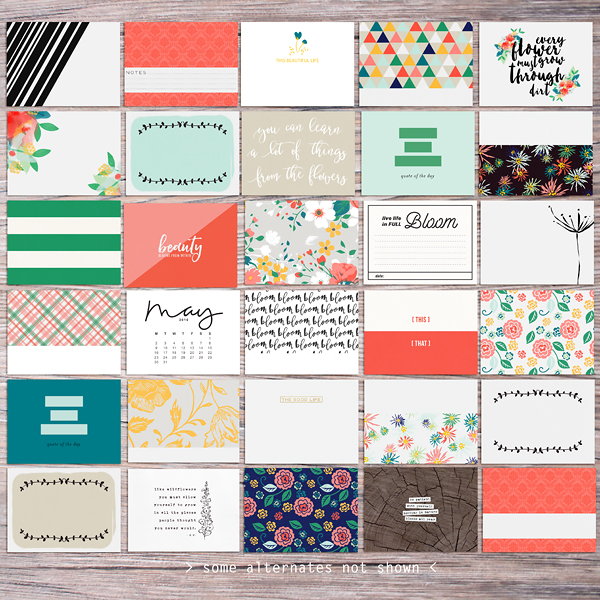 Memory Pockets Monthly (MPM) Kit & Journal Cards Subscription | BLOOM at the LilyPad - Perfect for Project Life albums!!