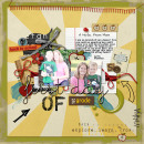 digital scrapbook layout featuring Snipettes: Explore.Learn.Grow by Sahlin Studio