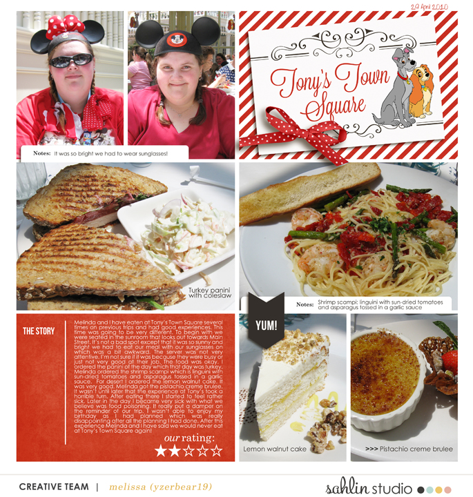 "Tony's Town Square digital project life page using Photo Journal No.2 (4x6"" Templates) by Sahlin Studio"