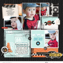Ready set go digital pocket scrapbooking page using Project Mouse (Cars) by Britt-ish Designs and Sahlin Studio
