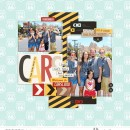 Carsland in Disneyland digital scrapbooking page using Project Mouse (Cars) by Britt-ish Designs and Sahlin Studio