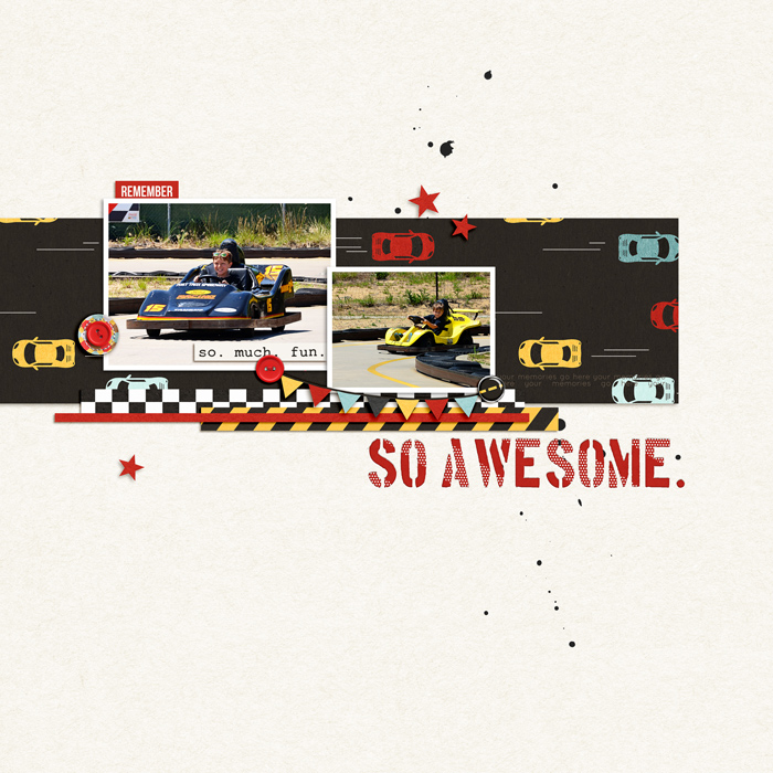 So Awesome digital scrapbooking page by jk70 using Project Mouse (Cars) by Britt-ish Designs and Sahlin Studio