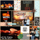 Disney's Cars Land digital double pocket scrapbooking page by tanya (L) using Project Mouse (Cars) by Britt-ish Designs and Sahlin Studio