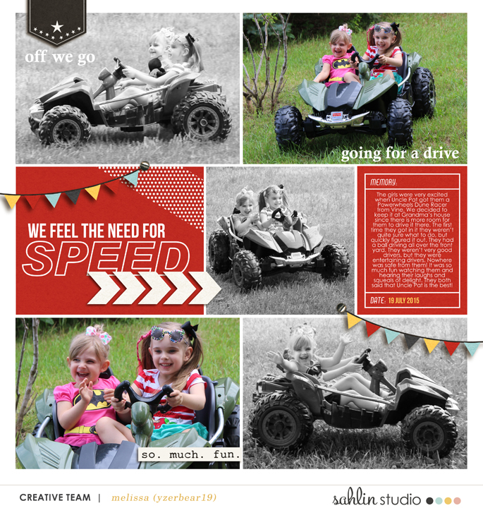 Need for Speed digital pocket scrapbooking page  using Project Mouse (Cars) by Britt-ish Designs and Sahlin Studio