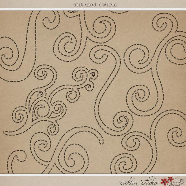 Stitched Swirls by Sahlin Studio