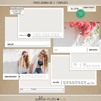 "Photo Journal No.2 (4x6"" Templates) by Sahlin Studio - Perfect for your Project Life photos!!"