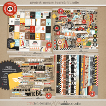 Project Mouse (Cars): BUNDLE by Britt-ish Designs and Sahlin Studio - Perfect for Disney's Cars, Carsland, Radiator Spring or racing moments for your Project Mouse or Project Life Albums!!