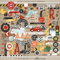 Project Mouse (Cars): Elements by Britt-ish Designs and Sahlin Studio - Perfect for Disney's Cars, Carsland, Radiator Spring or racing moments for your Project Mouse or Project Life Albums!!