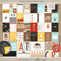 Project Mouse (Cars): Journal Cards by Britt-ish Designs and Sahlin Studio - Perfect for Disney's Cars, Carsland, Radiator Spring or racing moments for your Project Mouse or Project Life Albums!!