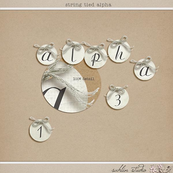 String Tied Alpha by Sahlin Studio