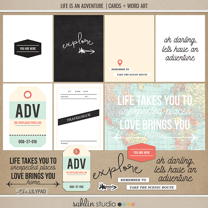 Life is an Adventure FREEBIE by Sahlin Studio - Perfect for your Project Life albums!!