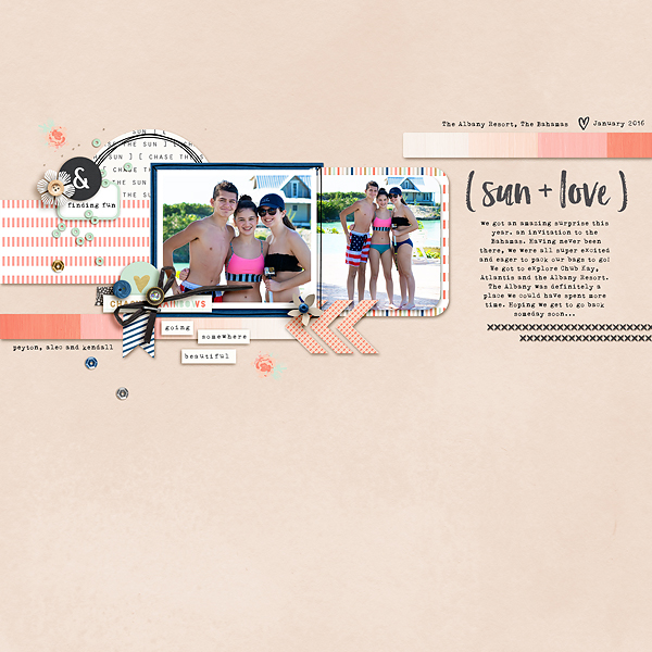 Digital Scrapbook layout Memory Pocket Monthly (MPM) | PROMISE Subscription by The LilyPad Designers