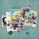 layout featuring Candy Flowers by Sahlin Studio