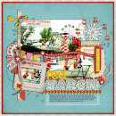 layout featuring Vintage Carnival by Jennifer Barrette and Sahlin Studio