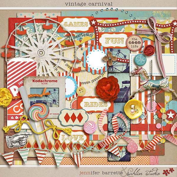 Vintage Carnival by Jennifer Barrette and Sahlin Studio