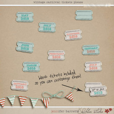 Vintage Carnival: Tickets Please by Jennifer Barrette and Sahlin Studio