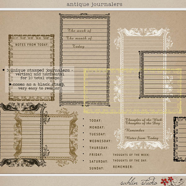 Antique Journalers by Sahlin Studio