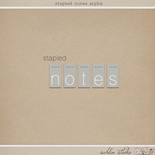 Stapled Notes Alpha by Sahlin Studio