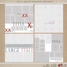 Lots O' Photos Templates (Blocked) by Sahlin Studio
