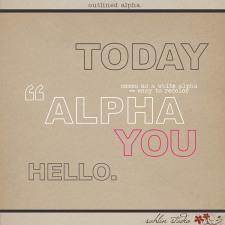 Outlined Alpha by Sahlin Studio
