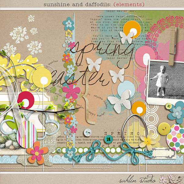 Sunshine and Daffodils (Elements) by Sahlin Studio