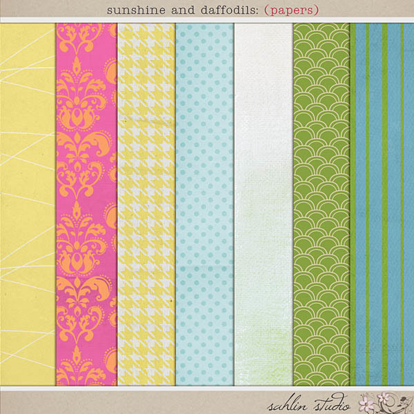 Sunshine and Daffodils (Papers) by Sahlin Studio