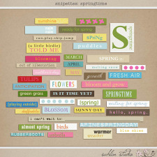 Snipettes: Springtime by Sahlin Studio