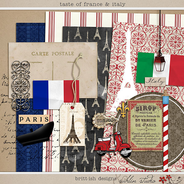 Taste of France & Italy by Britt-ish Designs and Sahlin Studio