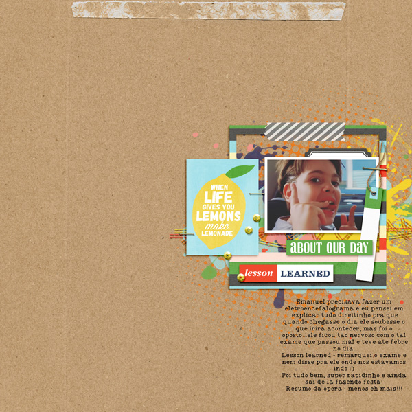 About Our Day digital scrapbooking page by AnaPaula using  Highs and Lows by Sahlin Studio